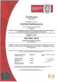 Cocinas Buraglia ISO 9001-2015 Certification