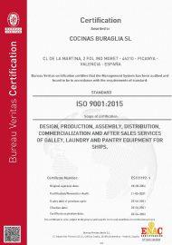 Cocinas Buraglia ISO 9001-2015 Certification img 2021